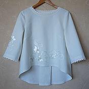 Одежда handmade. Livemaster - original item Blouse cotton-silk