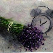 """Картины и панно ручной работы. Ярмарка Мастеров - ручная работа Картина из шерсти """" Лавандовое время"""". Handmade."""