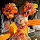 Тыковка. Человечки ручной работы. Ярмарка Мастеров - ручная работа. Купить куколка Тыковка. Девочка, которая растит свою семечку. Текстильная куколка. Handmade.