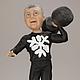 """Подарки для мужчин, ручной работы. Ярмарка Мастеров - ручная работа. Купить Портретная статуэтка по фотографии """"Крутой штангист"""". Handmade."""