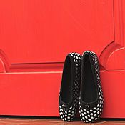 """Обувь ручной работы. Ярмарка Мастеров - ручная работа """"City (black)"""" туфельки валяные. Handmade."""