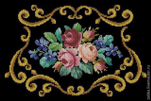 Вышивка ручной работы. Ярмарка Мастеров - ручная работа. Купить Три розы (Дизайн для сумочки). Handmade. Комбинированный