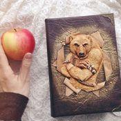 Канцелярские товары handmade. Livemaster - original item Notepad with a bear. Handmade.