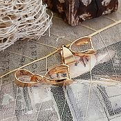 Материалы для творчества handmade. Livemaster - original item Bail clamping 14x8x4 mm gold plated (3527). Handmade.