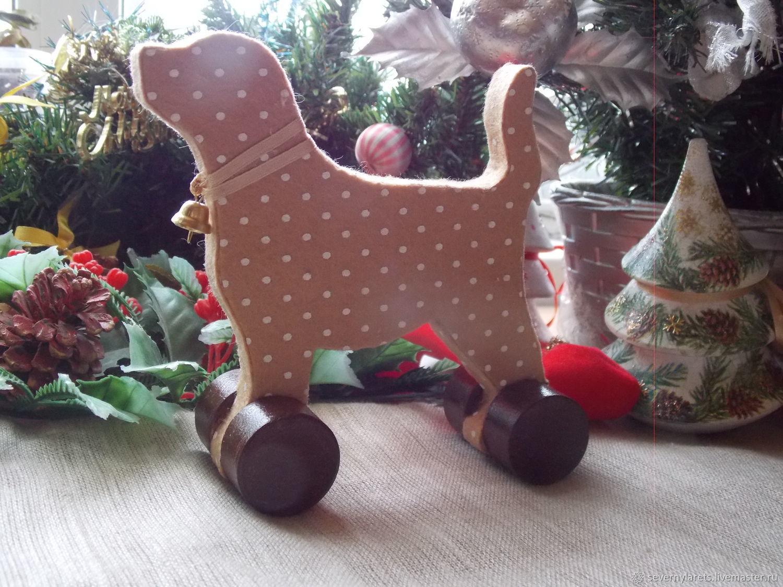 Новогодняя игрушка-сувенир собачка. Символ Нового 2018 года.