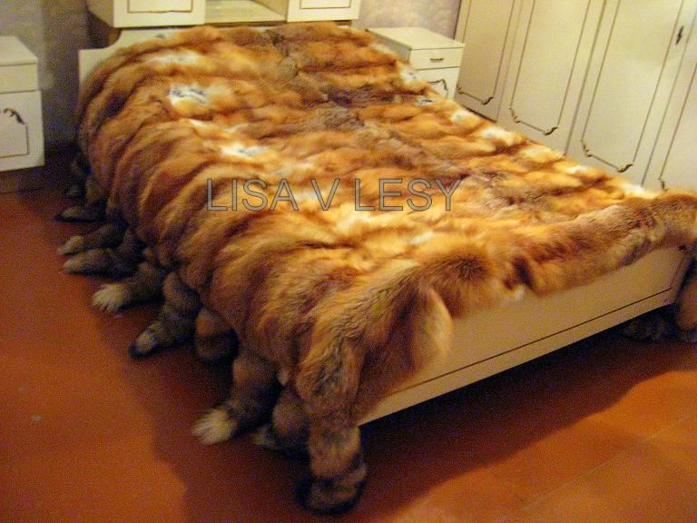 Текстиль, ковры ручной работы. Ярмарка Мастеров - ручная работа. Купить Шикарное меховое покрывало из лисы. Handmade. Покрывало