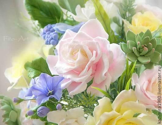 Букеты ручной работы. Ярмарка Мастеров - ручная работа. Купить Букет цветов из полимерной глины Lovely Garden. Handmade. для дома