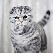 Куклы и игрушки handmade. Livemaster - original item Scottish fold cat in the style of Teddy nature. Handmade.