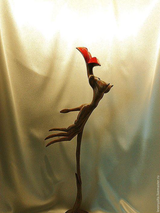 Статуэтки ручной работы. Ярмарка Мастеров - ручная работа. Купить БЕЗУМСТВО НОЧИ. Handmade. Коричневый, подарок девушке, красное дерево
