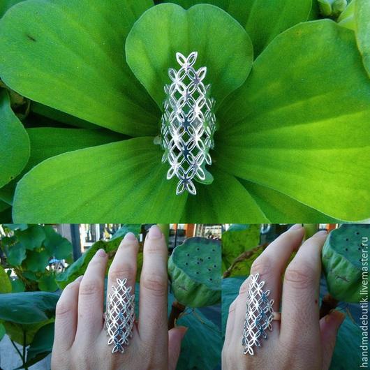 Кольца ручной работы. Ярмарка Мастеров - ручная работа. Купить Кольцо Цветок жизни ромб из серебра 925. Handmade.