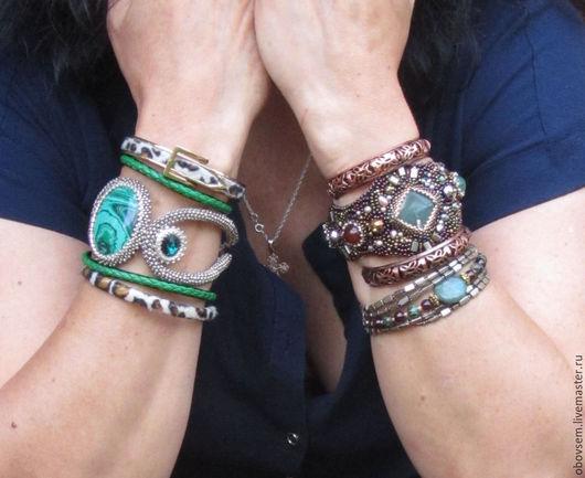 """Браслеты ручной работы. Ярмарка Мастеров - ручная работа. Купить Сборные наборы браслетов """"Бохо"""". Handmade. Разноцветный, украшения бохо"""