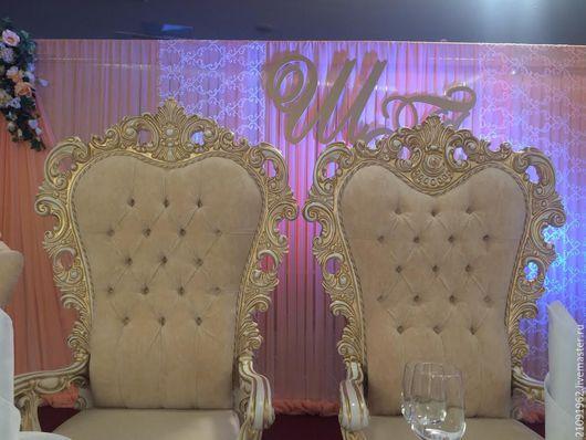 Мебель ручной работы. Ярмарка Мастеров - ручная работа. Купить английские кресла для свадьбы. Handmade. Бежевый