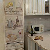 Дизайн и реклама ручной работы. Ярмарка Мастеров - ручная работа Роспись холодильника Винный. Handmade.