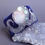Украшения handmade. Livemaster - original item The bracelet IN the depths of the quartz, prehnite, agate, beads, velvet. Handmade.