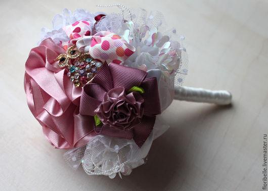 """Персональные подарки ручной работы. Ярмарка Мастеров - ручная работа. Купить Букет из заколок и резинок для волос """"Розовые сны"""". Подарок девочке. Handmade."""