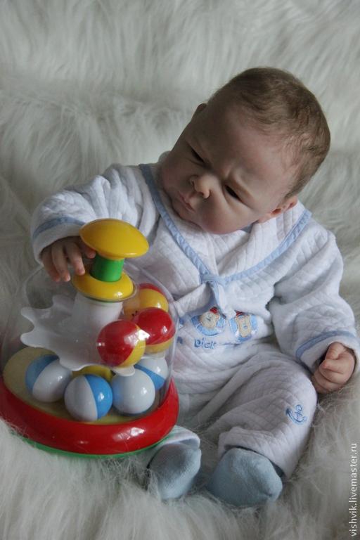 Куклы-младенцы и reborn ручной работы. Ярмарка Мастеров - ручная работа. Купить Ноэльчик. Handmade. Вишня виктория, мальчик, гранулят
