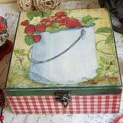 Для дома и интерьера ручной работы. Ярмарка Мастеров - ручная работа Ведёрко клубники. Коробочка на замке. Handmade.