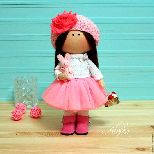 Интерьерная кукла Пиона сделана на заказ в качестве подарка на День Рождения. Повтор с изменениями. Коллекционная текстильная тыквоголовка авторская работа в подарок