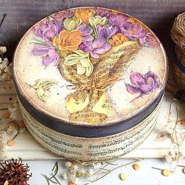 Для дома и интерьера ручной работы. Ярмарка Мастеров - ручная работа Шкатулка Букет...Ноты.... Handmade.