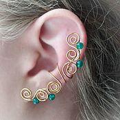 Украшения handmade. Livemaster - original item Ear cuff Pearl pinstripe earrings,pearl earrings earcuff. Handmade.