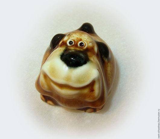Миниатюрные модели ручной работы. Ярмарка Мастеров - ручная работа. Купить Пёс Шарик. Handmade. Оранжевый, handmade
