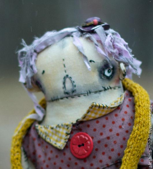 Коллекционные куклы ручной работы. Ярмарка Мастеров - ручная работа. Купить Марла. Handmade. Фиолетовый, текстиль, фрик, раздумья