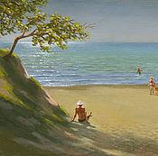 Картины и панно ручной работы. Ярмарка Мастеров - ручная работа Пляж в Анапе. Handmade.