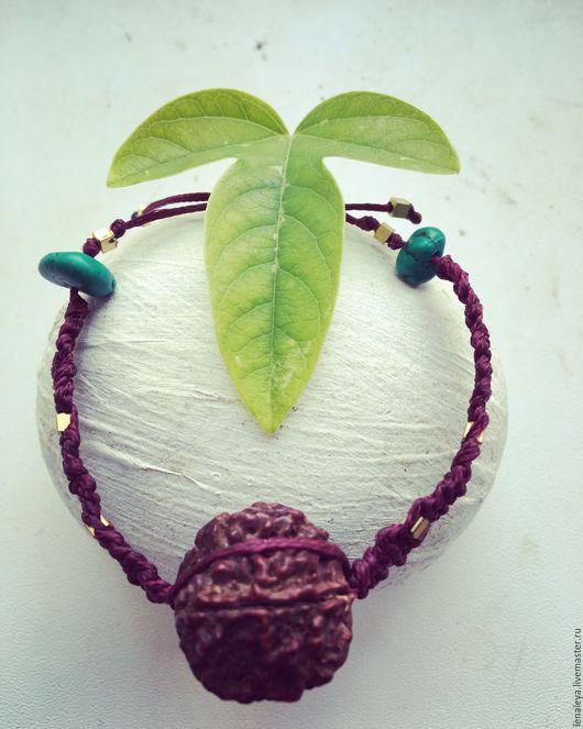 Браслеты ручной работы. Ярмарка Мастеров - ручная работа. Купить Браслет с рудракшей, семя священного дерева. Handmade. Рудракша