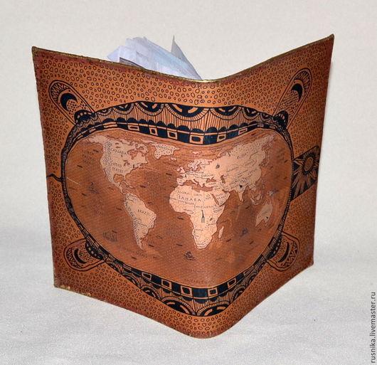 Обложки ручной работы. Ярмарка Мастеров - ручная работа. Купить обложка для паспорта BON VOYAGE! :). Handmade. подарок для любимой