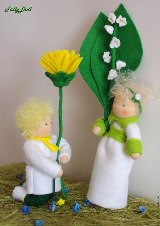 Вальдорфская игрушка ручной работы. Ярмарка Мастеров - ручная работа. Купить Цветочные детки 2. Handmade. Зеленый, весна-лето
