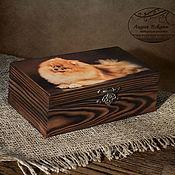 Для дома и интерьера handmade. Livemaster - original item Box-copernica Red Spitz Box copernica decoupage. Handmade.