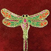 Материалы для творчества handmade. Livemaster - original item Applique dragonfly. Handmade.