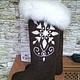 Обувь ручной работы. Ярмарка Мастеров - ручная работа. Купить валенки женские Снежинка. Handmade. Коричневый, обувь ручной работы