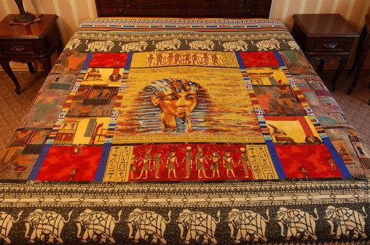 Текстиль, ковры ручной работы. Ярмарка Мастеров - ручная работа. Купить Покрывало  Фараон. Handmade. Покрывало, лоскутное шитье, красный