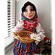"""Кухня ручной работы. Ярмарка Мастеров - ручная работа. Купить """"Аленка"""". Кукла&конфетница на чайник. Текстильная скульптура. Handmade. Кукла на чайник"""