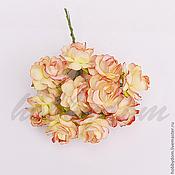 """Материалы для творчества ручной работы. Ярмарка Мастеров - ручная работа цветы бумажные """"Роза"""", диаметр 3.0 см. Handmade."""