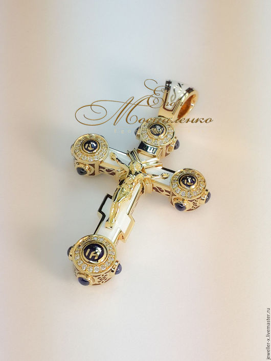 Шестиконечный православный `русский` крест Jeweller-X