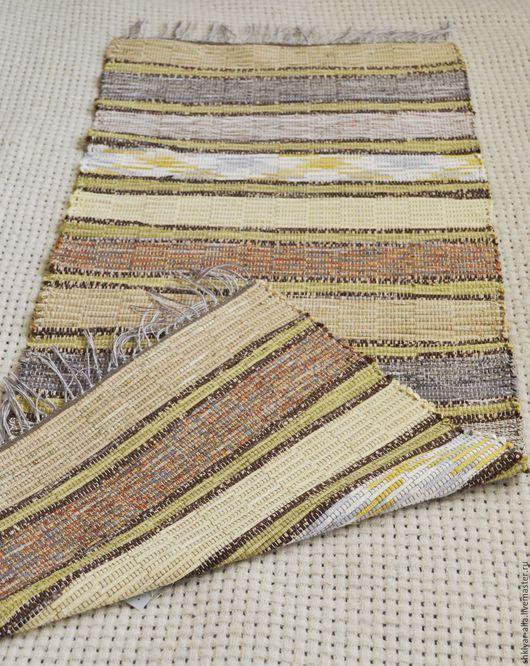 Текстиль, ковры ручной работы. Ярмарка Мастеров - ручная работа. Купить Половик ручного ткачества (№ 79). Handmade. Бежевый