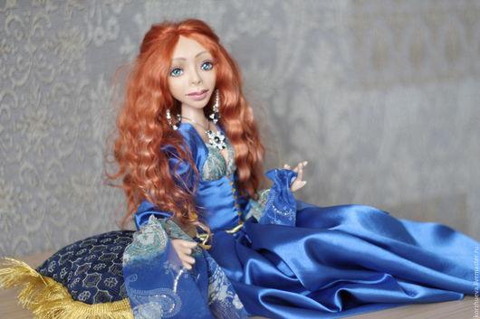 Коллекционные куклы ручной работы. Ярмарка Мастеров - ручная работа. Купить Каркасная кукла  Хюррем Султан. Handmade. Тёмно-синий