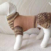 Для домашних животных, ручной работы. Ярмарка Мастеров - ручная работа Вязаное платье для маленькой собачки. Handmade.