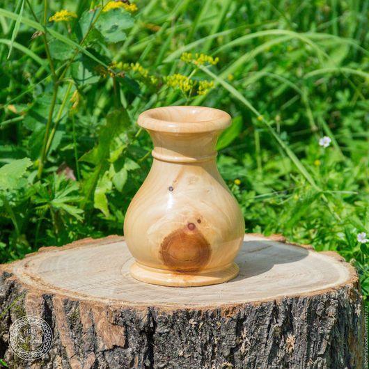 Декоративная посуда ручной работы. Ярмарка Мастеров - ручная работа. Купить Ваза из натурального дерева Сибирский Кедр для сухоцвета V3. Handmade.