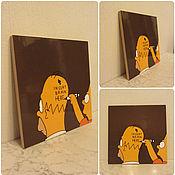 """Картины и панно ручной работы. Ярмарка Мастеров - ручная работа Картинка """"Симпсоны. Handmade."""