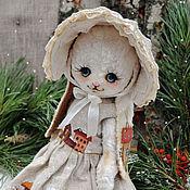 """Куклы и игрушки ручной работы. Ярмарка Мастеров - ручная работа Плюшевая зайка """"Снежинка"""". Handmade."""