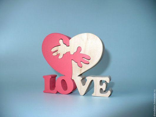 Развивающие игрушки ручной работы. Ярмарка Мастеров - ручная работа. Купить Пазл - сувенир LOVE сердечко с руками. Handmade. сувениры