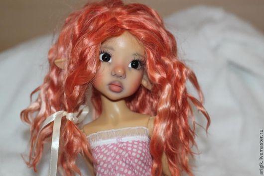 Коллекционные куклы ручной работы. Ярмарка Мастеров - ручная работа. Купить Парик для куклы. Handmade. Парик, волосы натуральные