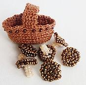 Куклы и игрушки ручной работы. Ярмарка Мастеров - ручная работа Корзинка с грибами. Handmade.