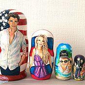 Сувениры и подарки handmade. Livemaster - original item Matryoshka dolls with portraits. Handmade.