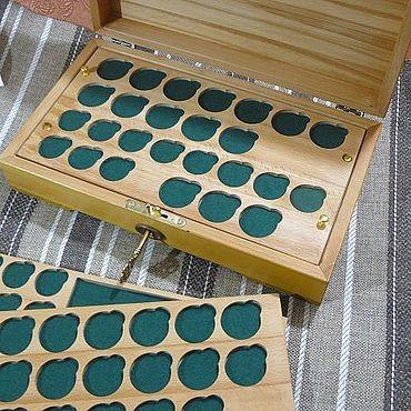 Для дома и интерьера ручной работы. Ярмарка Мастеров - ручная работа Бокс для коллекции монет .. Handmade.