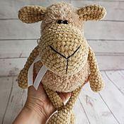 Мягкие игрушки ручной работы. Ярмарка Мастеров - ручная работа Плюшевая овечка 25 см. Handmade.