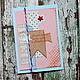 Открытки к Новому году ручной работы. Ярмарка Мастеров - ручная работа. Купить Открытка новогодняя. Handmade. Бирюзовый, розовый, флажки